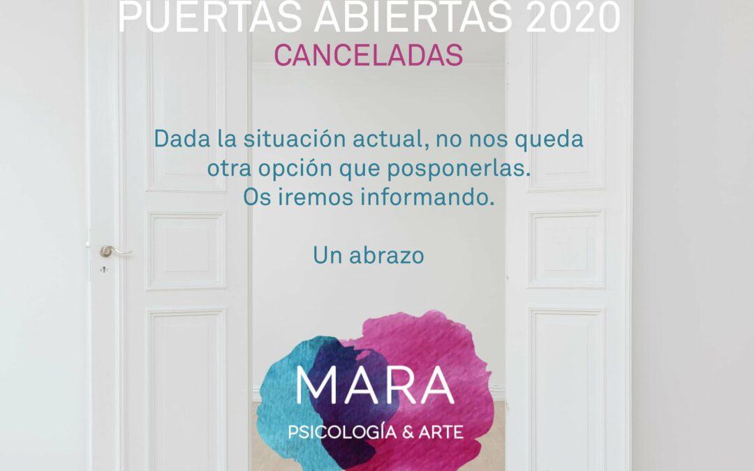 Puertas abiertas 2020 canceladas